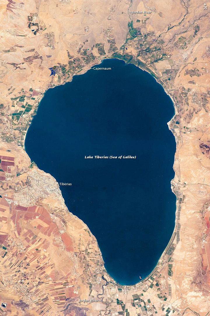 Lake Tiberias (Sea of Galilee), Northern Israel