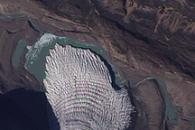 Glaciers Flow into a Greenland Valley