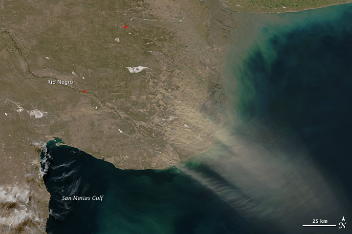 Dust Plume Across Northern Patagonia - related image preview