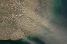 Dust Plume Across Northern Patagonia - selected image