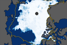 North Pole Sea Ice Minimum 2009