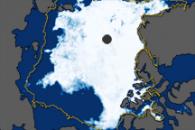 North Pole Sea Ice Minimum 2009