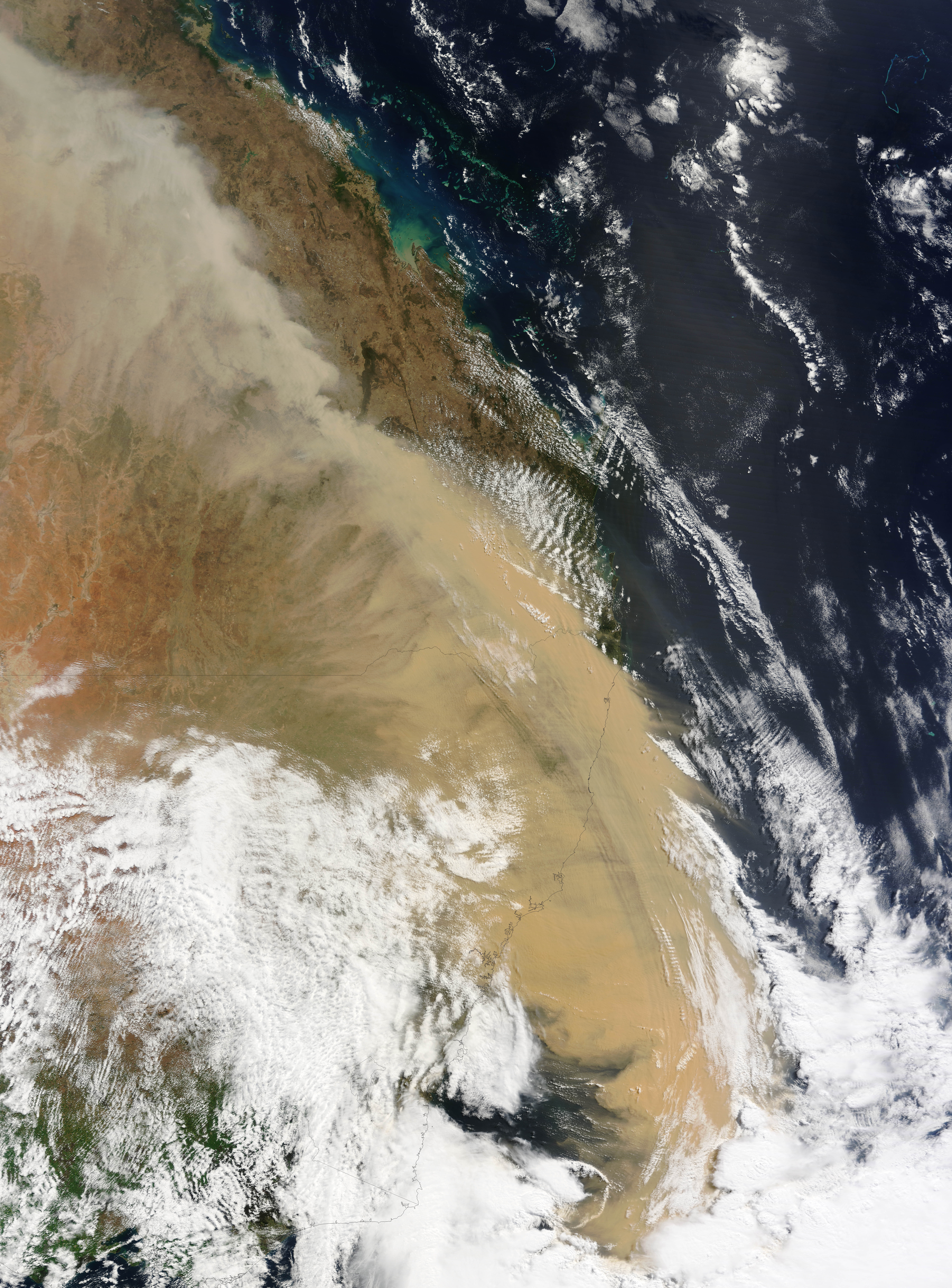 Dust over Eastern Australia - related image preview