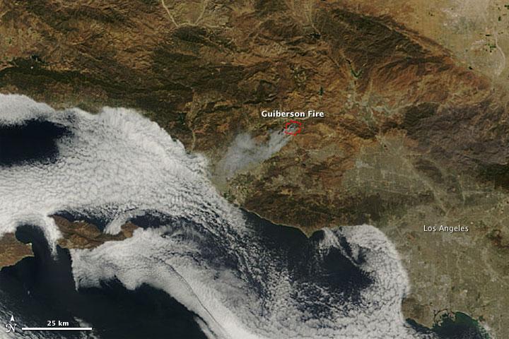 Fire in Ventura County, California