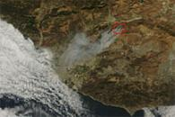 Fire in Ventura County, California