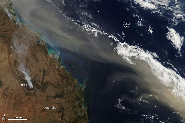 Dust over Eastern Australia