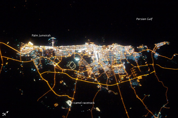 City of Dubai at Night, United Arab Emirates