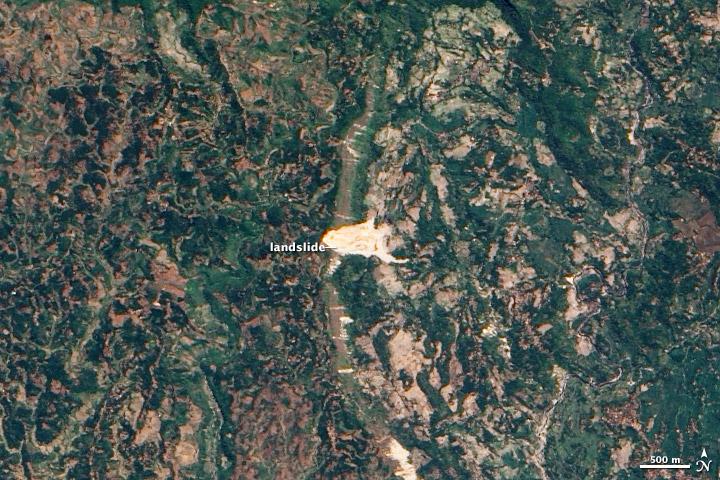 Cikangkareng Landslide, Indonesia