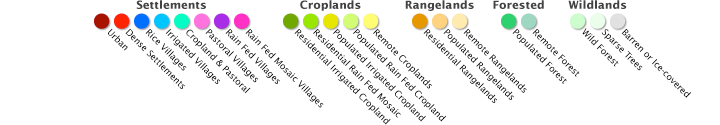 Color bar for Human Ecosystems