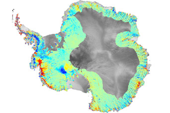 Fast-Flowing Glaciers Thin Greenland and Antarctic Ice Sheets - related image preview