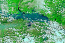 Flooding along the Krishna River