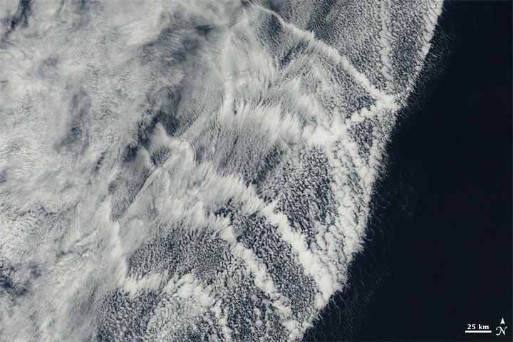 Ship Trails over the Pacific Ocean