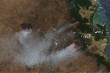 Fires in Northeastern Australia