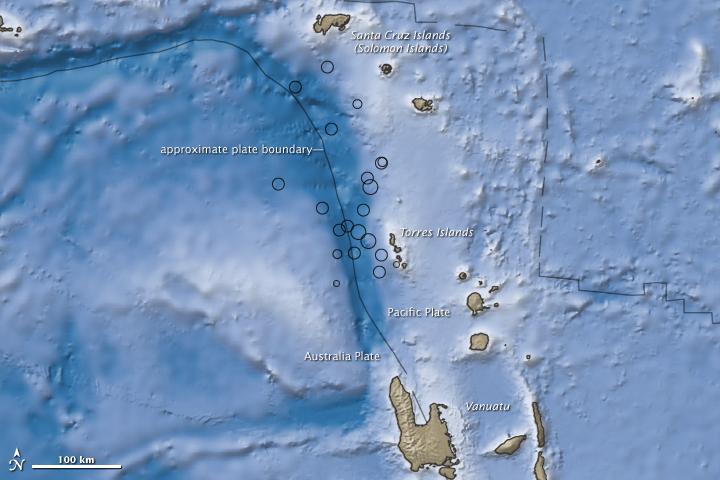 Earthquakes Near Vanuatu