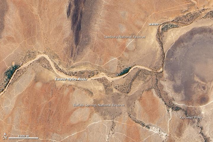 Kenya's Ewaso Nyiro River Dries