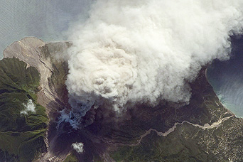 Ash and Steam Plume, Soufriere Hills Volcano, Montserrat - related image preview