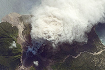 Ash and Steam Plume, Soufriere Hills Volcano, Montserrat - selected image