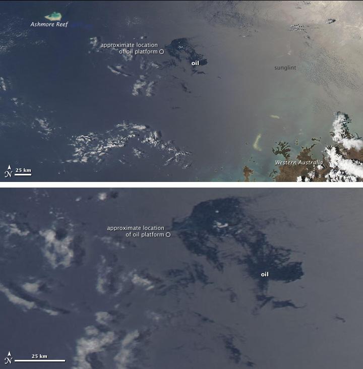 Oil Slick in the Timor Sea