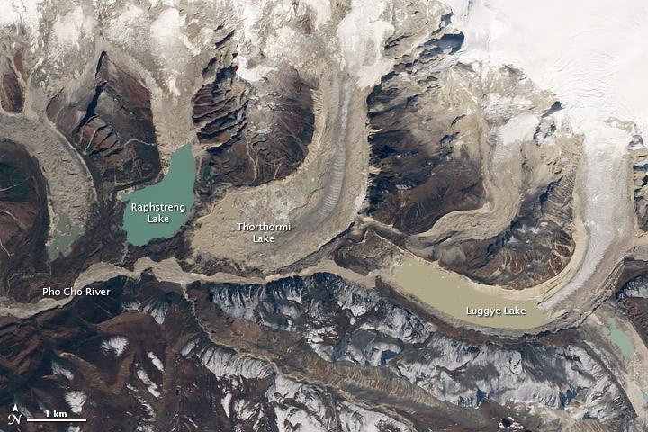 Thorthormi Glacier Lake, Bhutan