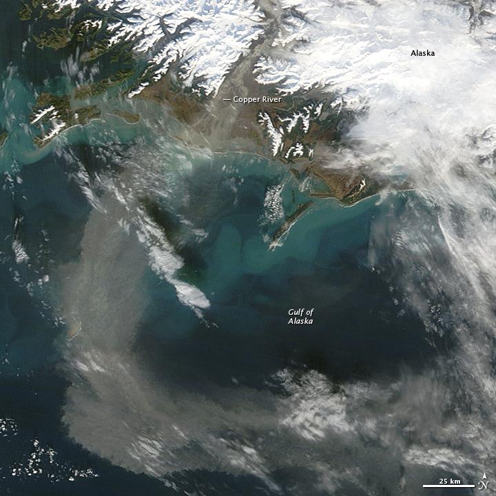 Glacial Dust off Alaska