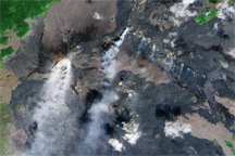 Lava Flows on Kilauea