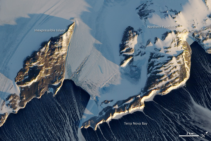 Katabatic Winds Rake Antarctica's Terra Nova Bay
