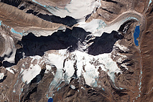 Glacier-capped Mountains in Tibet
