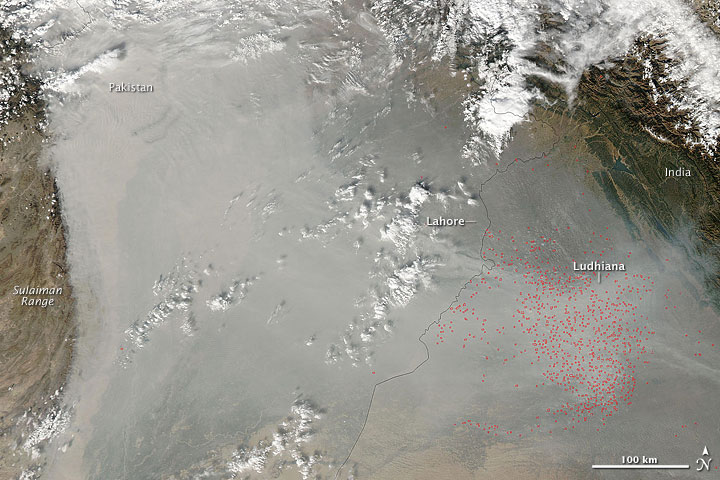 Fires in Northwestern India