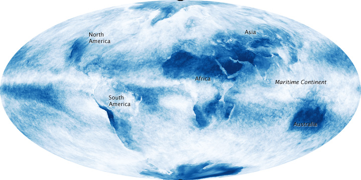 Clouds Can Reveal Shape of Continents