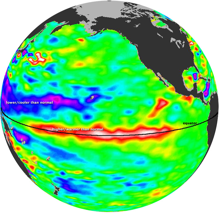 El Nino Resurging in November 2009