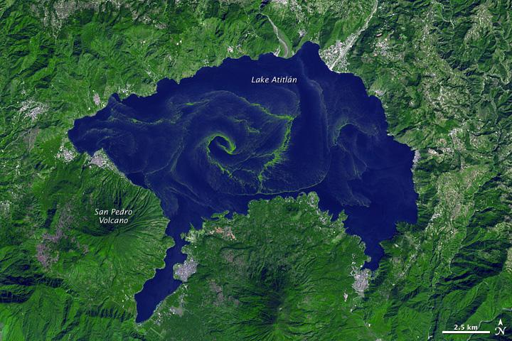 Harmful Bloom in Lake Atitlán, Guatemala
