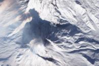 Shadow Cast by Bezymianny Volcano
