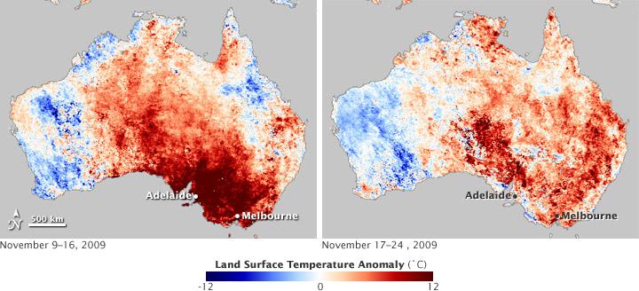 Springtime Heatwave in Southeastern Australia
