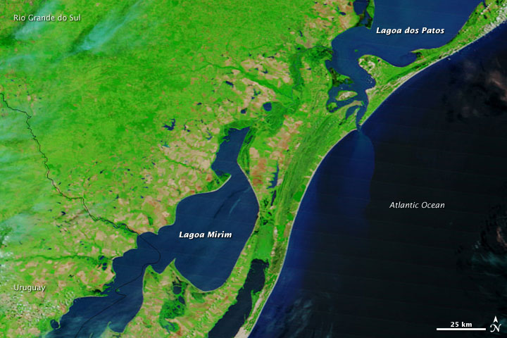 Flooding in Brazil and Uruguay