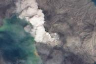 Ash Plume from Tavurvur, Papua New Guinea