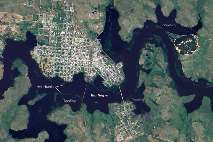 Flooding Along the Rio Negro, Uruguay