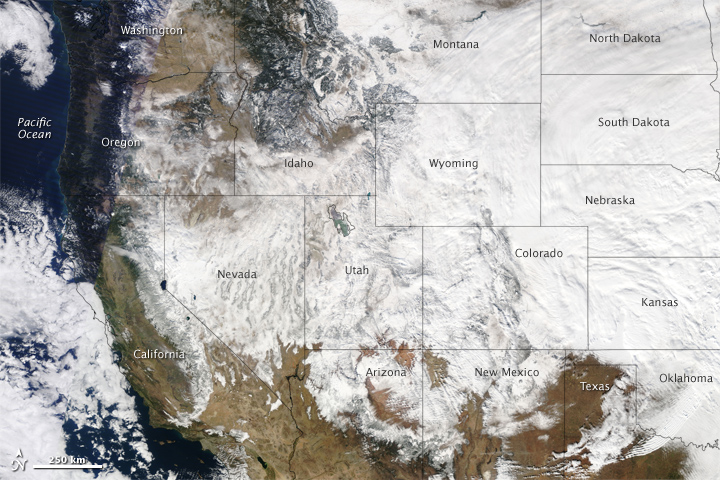Winter Storm Crosses United States