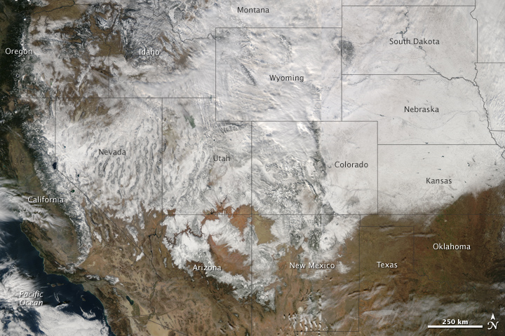 Winter Storm Crosses the United States