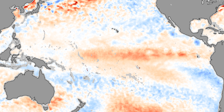 El Niño Strengthens in November 2009
