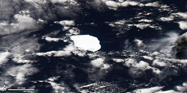 Iceberg B17-B Adrift Off the Southwestern Coast of Australia