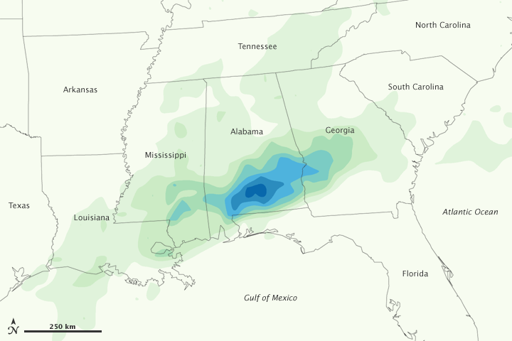 Heavy Rain in the Southeastern United States