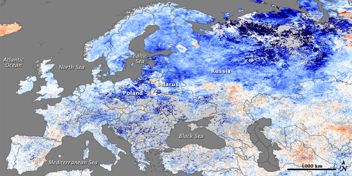 Deadly Cold Across Europe and Russia Image of the Day
