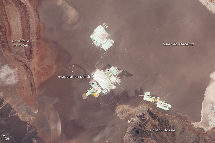 Evaporation Ponds, Salar de Atacama, Chile