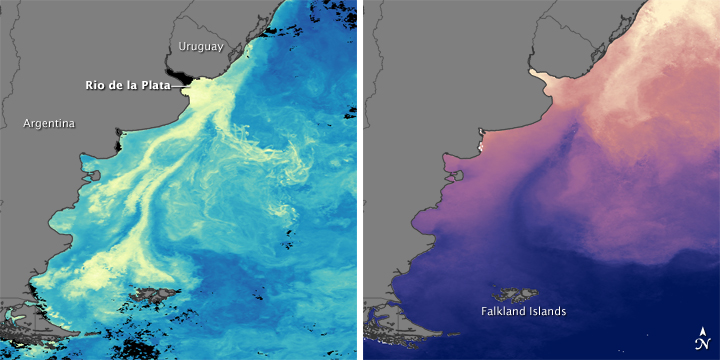 Currents Collide and Coastal Waters Bloom off Patagonia