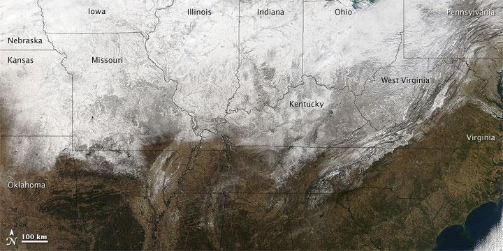 Snow across U.S. Midwest