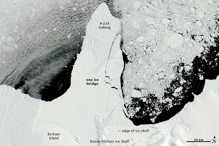 Rapid Sea Ice Breakup along the Ronne-Filchner Ice Shelf