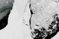 Rapid Sea Ice Breakup along the Ronne-Filchner Ice Shelf