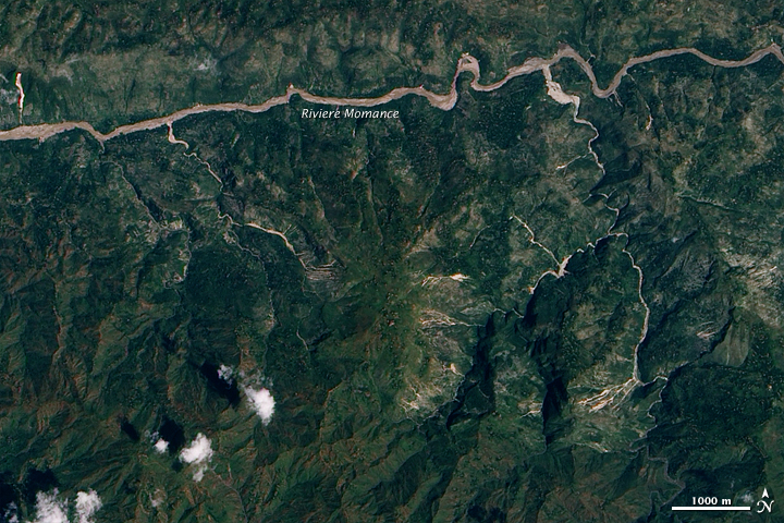 Potential Landslides near Epicenter of Haiti Quake