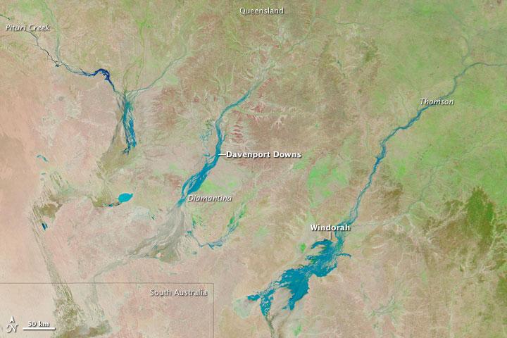 Floods in Australian Channel Country