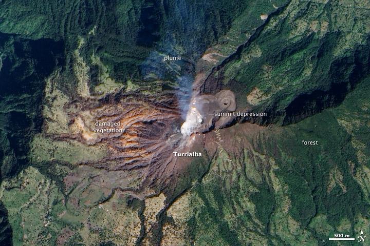 Unrest at Turrialba Volcano, Costa Rica